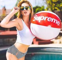hava tahtası şişirilebilir toptan satış-Sup Plaj Topu Sporting Açık Uçan Hava Yüzücüler Şişme Meclisi Yüzme Blimp Balon Hava