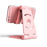 сгибатель оптовых-Универсальный регулируемый держатель мобильного телефона для iPhone Samsung Android Phone Пластиковая подставка для телефона Складная подставка для рабочего стола