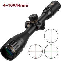 silah avı riflescope toptan satış-Tüfek avcılık 4-16x44 Optik Sight Yeşil Kırmızı Işıklı Avcılık Kapsamları Tüfek Kapsam Sniper Hava Tabancası