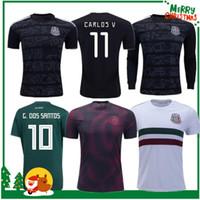 9013930280c México 2019 H.LOZANO G.DOS SANTOS CHICHARITO camiseta de fútbol camisetas  de fútbol 19 20 México Copa de Oro hombre mujer Camiseta de fútbol de manga  larga