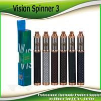 ingrosso penna del serbatoio ce4-Carbon Vision Spinner 3 III Fibra 1650mAh Batteria a basso voltaggio VV Vape inferiore variabile per 510 Ego CE4 Vision Serbatoio atomizzatore