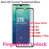 Wholesale oneplus tempered glass for sale - New Arrival D Curved Tempered Glass for Oneplus Pro ZTE Axon Pro LG G8 V40 Screen Protector with Retail Package