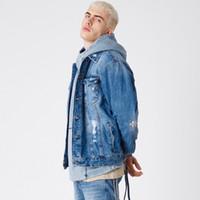 calça jeans venda por atacado-19FW Kith Retro Jaqueta Retro Jaqueta Jeans Versátil Homens Mulheres Casacos Casacos Clássico Moda Hip Hop Jacket 3 cores HFSSJK001