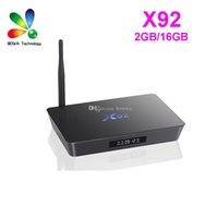 Wholesale octa core hdmi for sale - Group buy Original X92 Amlogic S912 Octa Core bit Android TV BOX G G G Dual Wifi HDMI D K VP9 H BT4 Smart Media Player