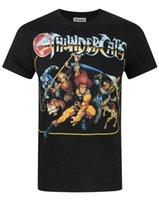 camisa oficial homens venda por atacado-Oficial Thundercats Group T-Shirt dos homens tops tees Frete grátis Camiseta de Manga Curta