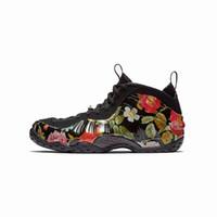 baskılı köpük toptan satış-Satılık ucuz Kadın Erkek penny hardaway basketbol ayakkabı Siyahlar Çiçek Baskı yeni gençlik çocuklar köpükler ile bir pro posite sneakers tenis kutusu
