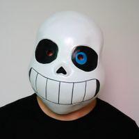 niños cosplay chicos disfraces al por mayor-Kid Undertale FRESCO ESQUELETO Sans Cosplay Látex Máscara de Disfraces de Halloween del cráneo Cos Sombrero Niño Niña Carnaval Cosplay