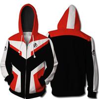 wunder rächer kostüme großhandel-Bestaunen Sie die Avengers 4 Endgame Quantum Realm Cosplay Kostüm Hoodies Männer mit Kapuze Avengers Zipper End Game Sweatshirt Jacke