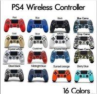 joystick bluetooth venda por atacado-Controlador sem fio Bluetooth para PS4 Vibration Joystick Gamepad Game Controller para Sony Play Station com caixa de varejo