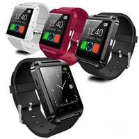 kablosuz fitness saati toptan satış-Bluetooth Akıllı Izle U8 Kablosuz Bluetooth Dokunmatik Ekran Akıllı İzle Android IOS Telefon için SIM Kart Yuvası ile