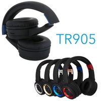 Wholesale best bluetooth for cell phones resale online - New TR905 Bluetooth headphone sport Support TF FM radio for iphone xiaomi computer best headphone wireless with mic