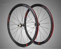 ingrosso le luci dei raggi della bici-MEROCA C6.0 raggi a quattro piatti in alluminio superleggero a corsa 40 cerchi ruota bici da strada 700C con anti-cursore