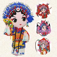 refrigerador chinês venda por atacado-Peking Opera Face presentes agradáveis da China Estilo Chinês Ímãs Para Frigoríficos Para Imãs de geladeira Souvenir Imã de geladeira