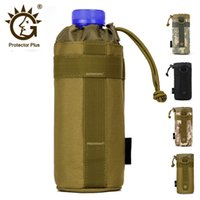 Wholesale gear pouch resale online - Tactical Molle Water Bottle Pouch Outdoors Gear Kettle Waist Bag for Army Climbing Camping Hiking Bags Backpack Accessories
