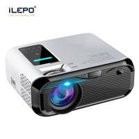 hdmi mm al por mayor-E500 Mini proyector LED 1280x720p HDMI USB VGA TF conector de 3,5 mm Proyector de cine en casa portátil