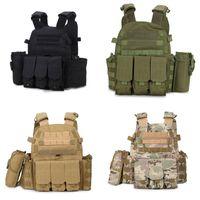Wholesale waterproof outdoor vest resale online - High Quality COS Outdoor Tactical Vest CQC Ghost Hunting Vest CS Equipment Army Combat Waistcoat Uniform Vests Colors Free DHL M119F