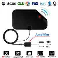 tv amplifikatörü toptan satış-Kapalı Dijital TV Anten Sinyal Amplifikatör Booster HDTV Kablo TV Antena TV Yarıçapı için Sörf HD DVB-T Antenler