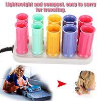 tubos para cabelos elétricos venda por atacado-Rolo aquecido elétrico Curling rolo Bigudi Set Cabelo Sticks Tubo DryWet Curly
