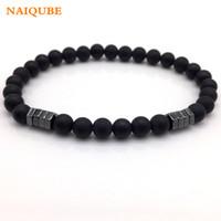 Wholesale geometric bracelets for sale - New Fashion Geometric Beaded Men Bracelets Simple Classic Stone Bead Charm Bracelets Bangles For Men Jewelry Gift