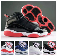 Wholesale best rungs for men resale online - Top Six Rings kids Children s Basketball Shoes kid trainers athletic best sports running shoes for Boy boots online gym jogging Ring