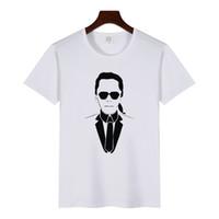 t perfume venda por atacado-Plus Size Camiseta Mulheres O-pescoço Manga Curta Lagerfeld Camiseta Branca Novo Verão 100% Algodão Casual Tops Perfume Marca Designer T-Shirt