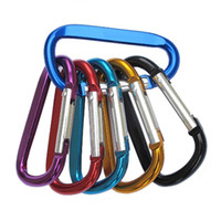 Wholesale convenient key rings resale online - mini Carabiner Ring Keyrings Key Chains Sport Carabiner Camp Snap Clip Hook Keychain Hiking Aluminum Convenient Hiking Camping Clip DHD225