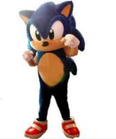 kostüm sonic großhandel-Neueste stil sonic the hedgehog maskottchen kostüm erwachsene größe blau knöchel sonic the hedgehog mascotte outfit anzug
