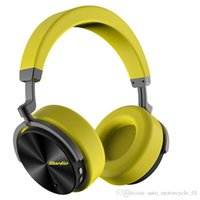 Wholesale car stereos price for sale - Group buy Best price Bluedio T5 Headphone wireless ANC bluetooth stereo bass bluetooth headphones for iphone s9 car