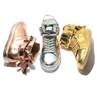 ingrosso merletti blocca la vendita-scarpe casual modo caldo di vendita degli uomini Lace-Up del partito serrature metalliche degli appartamenti delle donne Scarpe in pelle scarpe casuali personalità con decorazione