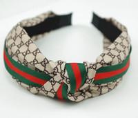 headbands de qualidade venda por atacado-Headband para Mulheres e Homens Melhor Qualidade Da Marca Ganância e Vermelho Listrado Cabelo bandas Head Scarf Para As Mulheres Da Menina Headwraps Presentes 184