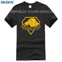 engrenagem metálica curta venda por atacado-Cool Game Metal Gear Sólidos T Shirt Verão Estilo de Algodão O-pescoço de Manga Curta T-Shirts Dos Homens de Metal Gear Dog Tees Dos Homens Top