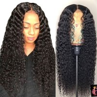 Wholesale inch curly human hair wigs resale online - Brazilian Curly Lace Front Human Hair Wigs For Black Women Pre Plucked With Baby Hair Wigs inch Remy Hair Wig