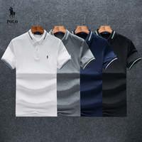 melhores camisas respiráveis venda por atacado-Mens designer Polo Ralph Tshirt Lauren Melhor vendedor de Luxo de Alta qualidade pequeno logotipo T shirt Clássico Rua Respirável em torno do pescoço tamanho M-XXL