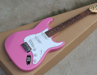 Wholesale electric guitar pink for sale - Factory Electric Guitar with Pink Body Rosewood Fretboard White Pickguard Chrome Hardware SSS Pickups Can be Customized