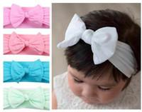 fotos de meninas de estilo venda por atacado-163 estilos infantil cabeça dos bebés meninas nylon dot listrado arco impresso foto da forma de cabelo acessórios hairband