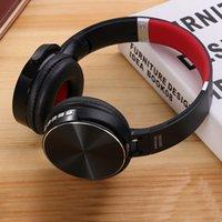 kafa bandı kulaklık seti mikrofonu toptan satış-Kutuda Mic Çekilebilir Kafa Destek TF Kart BT 4.2 ile Müzik Player iptal 550BT Kablosuz Kulaklık Stereo Bluetooth Kulaklık Gürültü