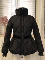 skirted daunenjacke frauen groihandel-Frauen Thick weiche warme unten Mantel Stehkragen Rock-Art-Slim Down Jacket Fashion unten Parkas