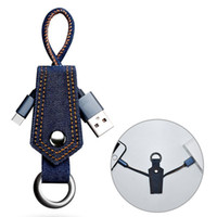 Wholesale new type phone charger for sale - Group buy New Keychain Data Cables Durable Jean Cloth Type C Micro USB Cables Portable Charger Cable Charging Code Data Line For Samsung Android Phone