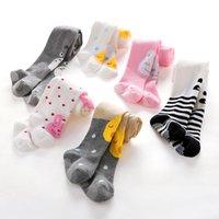 Wholesale baby kids hose online - Cotton Baby Girls Pantyhose Girl Tights Children Pants Bebe Leg Warmers Newborn Hose Kids Stockings Thermal Non slip Tights