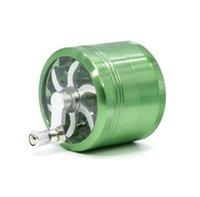 handschleifer groihandel-Aluminiumlegierung Grinder Handkurbel Metall Grinder 7 Farben Griff Grinder 63mm vier Teile Tabakmühlen A02