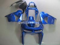 mavi 1998 zx9r toptan satış-Kawasaki Ninja ZX9R için kaporta kiti 98 99 mavi ABS kaporta seti ZX9R 1998 1999 YW05
