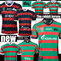 fußball-trikots australien großhandel-Thai New 2019 2020 South Sydney Rabbitohs Fußballtrikot 18 19 20 ANZAC Rugby Trikots Trikot Australien Rugby Trikots