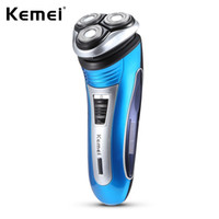 ingrosso trimmer kemei-Hot Kemei KM - 2801 Uomini ricaricabile Triple Floating Electric Razor Shaver Face Care Men Beard Trimmer