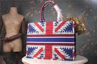 sacos de compras tecidos venda por atacado-Bolsas de grife Mulheres Sacos De Luxo bolsa de qualidade superior Europeia e Estilo Americano Paris Moda grandes sacos de compras Senhorita D totes