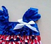 ingrosso vestiti 4 luglio-Il vestito della ragazza patriottica blu bianca rossa della bandiera nazionale americana, il quarto luglio, il giorno dell'indipendenza, attrezzatura patriottica