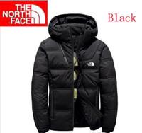 erkekler için moda kış ceketleri toptan satış-Sıcak Ücretsiz Gönderim The Men Kış aşağı ceket Kuzey gündelik soğuk sıcak kalın aşağı ceket Yüz erkekler sıcak moda tutun Açık