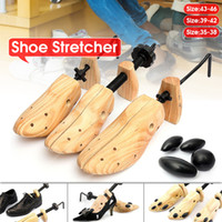 Wholesale bamboo wooden flooring for sale - Group buy Storage Holder Piece Shoe Stretcher Wooden Shoes Tree Shaper Rack Wood Adjustable Flats Pumps Boots Expander S M L Man Women SH190918