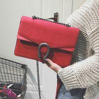tasarımcı çantalı omuz çantaları toptan satış-Süet çanta çanta kadın Ejderha çanta bağbozumu chian crossbody çanta klasik omuz messenger bolsas tasarımcı satchel