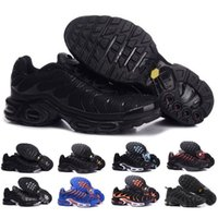 Wholesale free run black red resale online - Tn Mens Shoes New Black White Red TN Plus Sports Shoes Cheap TN Fashion running Sneakers