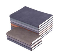 Wholesale free notebook spirals resale online - Wholesales Hot sales Sheepskin notebook custom logo business soft leather diary A5 notebook creative stationery